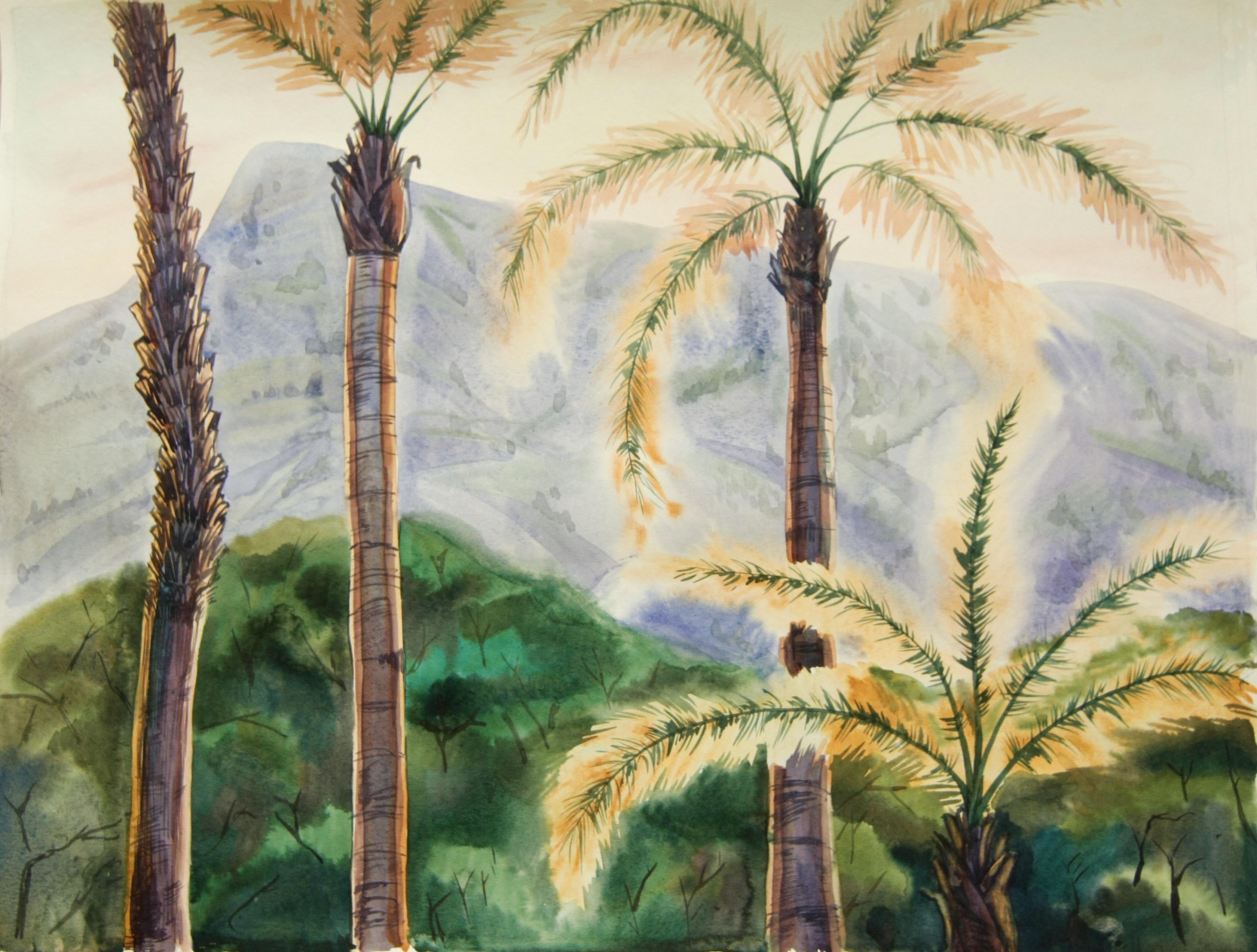 Картина «Солнечные пальмы» художника Дарьи Мазуриной