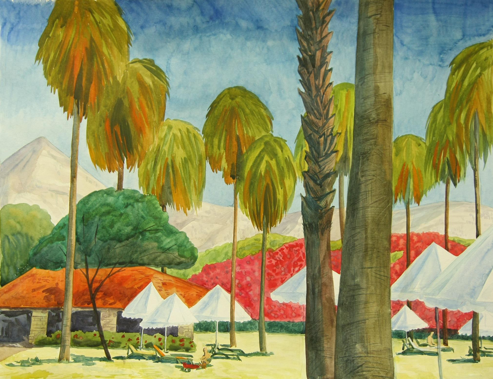 Картина «Пальмы» художника Дарьи Мазуриной